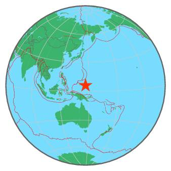 Earthquake Magnitude STATE OF YAP MICRONESIA - Micronesia interactive map
