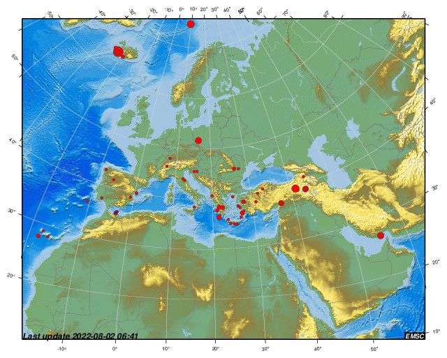 Earthquakes Earthquake Today Latest Earthquakes In The World Emsc