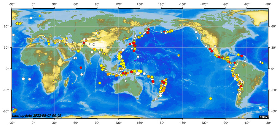 Earthquakes - Earthquake today - Latest Earthquakes in the World - EMSC
